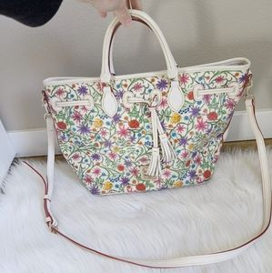 DOONEY & BOURKE Floral Tote Crossbody Bag